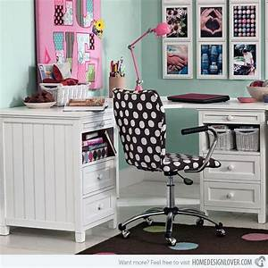 15 chic yet functional teen girl39s workspaces home With cute teen desks