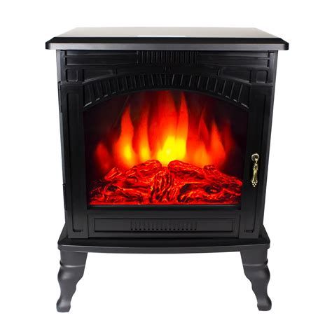 electric fireplace wood flame heater stove living room