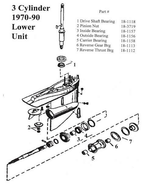 Mercruiser Lower Unit Diagram by Mercury Outboard Lower Unit Diagram
