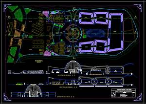 Contemporary Museum 2D DWG Design Block for AutoCAD