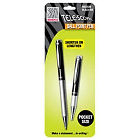 zebra telescopic ballpoint pens medium point 1 0 mm