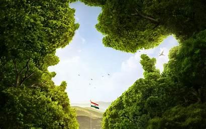 Flag Indian Forest India Landscape Wallpapers Desktop