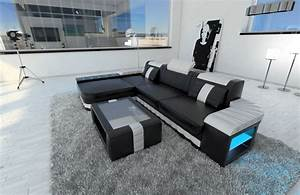 Sofa Mit Boxen Und Led : modern sofa bellagio led l shaped black white ebay ~ Bigdaddyawards.com Haus und Dekorationen