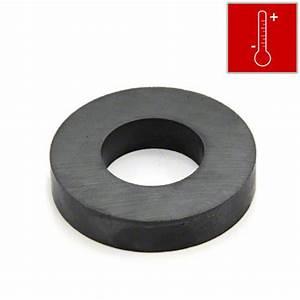 50mm O.D x 25mm I.D x 10mm thick Y30BH Ferrite Ring Magnet ...