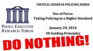 Ammoland Feed Police Executive Research Forum's Do Nothing ...