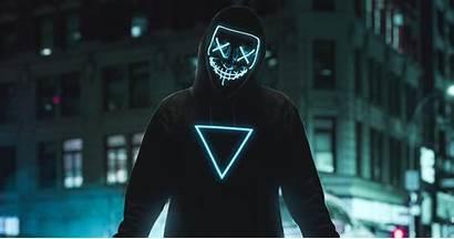 Mask Neon Wallpapers 4k Boy Anonymous Laptop