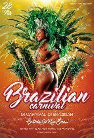 brazilian carnival flyer template brazilian carnival flyers psd templates facebook covers