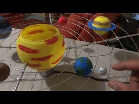 maqueta del sistema solar  movimiento traslacion  doovi