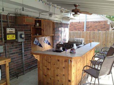 outdoor kitchen tile outdoor bar and kitchens with wall mounted wood 1309