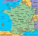 Lyon Map and Lyon Satellite Image