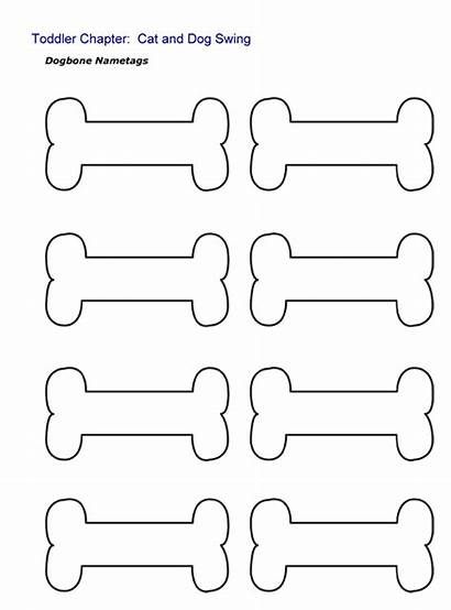Dog Template Bone Printable Bones Coloring Templates