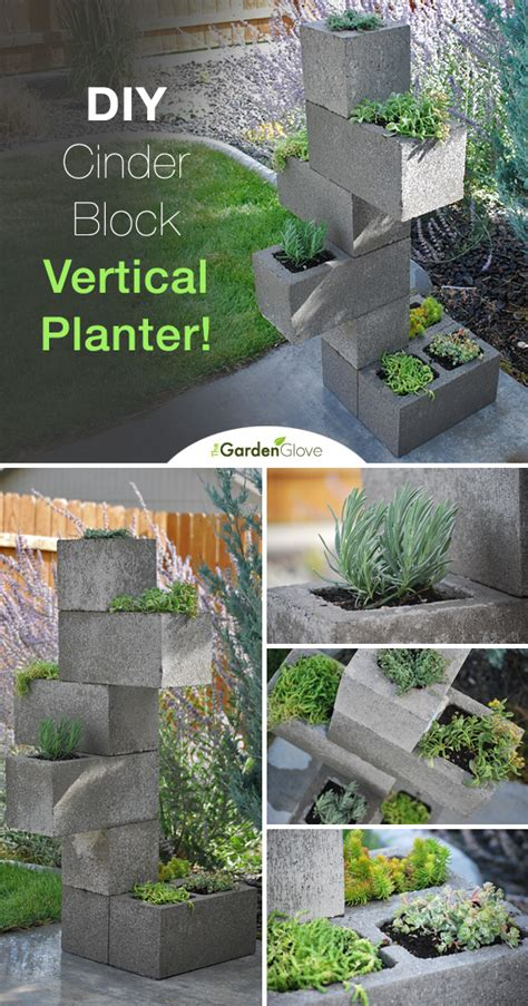 hometalk create a cinder block vertical planter