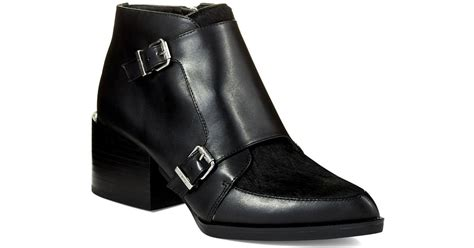 Circus By Sam Edelman Reese Leather And Calf Hair Booties