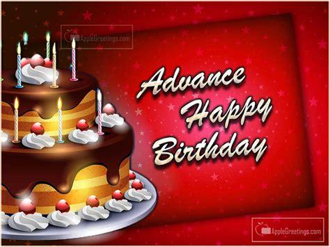 advance birthday wishes images id applegreetingscom