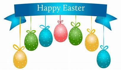 Easter Banner Happy Clipart Transparent Clip Eggs