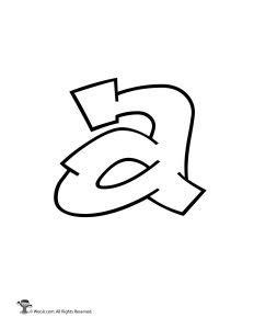 graffiti letter a printable graffiti letters alphabet woo jr 15352