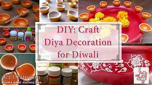 DIY: Diya Decoration for Diwali - K4 Craft