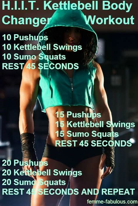 hiit kettlebell workout training results workouts fast kettlebells body kettle effective routine quick tough bell exercise challenge cardio swing fitness