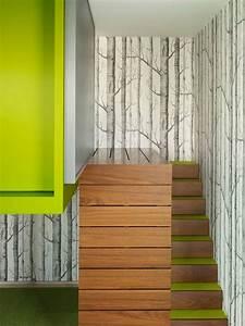 deco cage escalier 50 interieurs modernes et With deco avec papier peint
