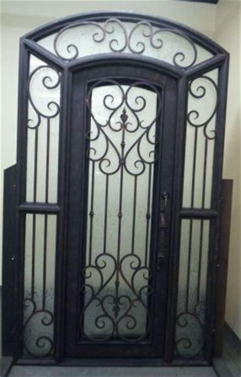 porte en fer forge exterieur porte d entr 233 e en fer forg 233 porte en fer porte en acier design a