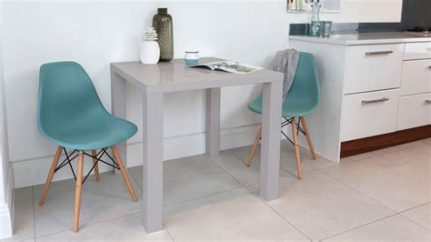 Eames Dining Set  Eames Replica  Grey Gloss Kitchen Table