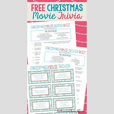 Free Printable Christmas Movie Trivia Christmas Game Night
