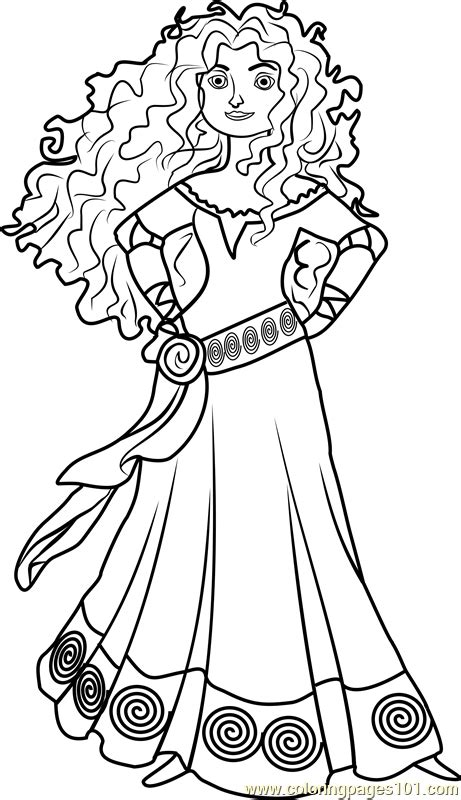 princess merida coloring page  disney princesses coloring pages coloringpagescom