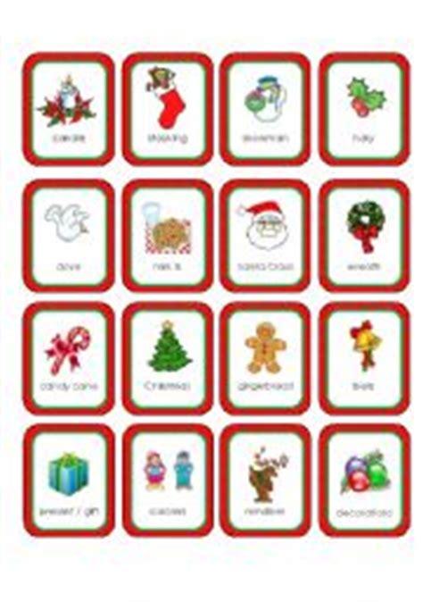 christmas memory cards  cards esl worksheet  pinky