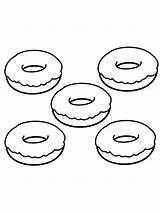 Donut Coloring Printable Mycoloring sketch template