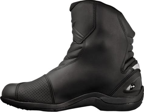 motorcycle street racing boots alpinestars mens leather black new land motorcycle riding