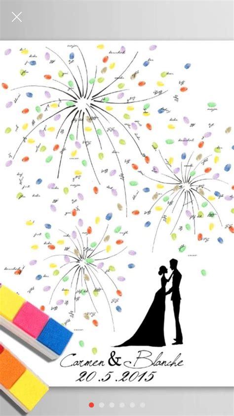diy wedding canvas fingerprints guestbook hochzeit