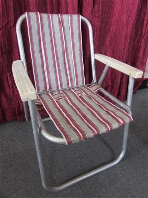 Lawn Chair Strapping Replacement by Lot Detail Vintage Aluminum Folding Lawn Chair Rocking