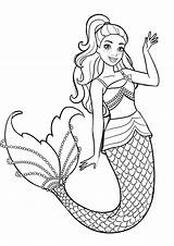 Barbie Coloring Mermaid Printable Pdf Princess Characters Dolphin Printcolorcraft Friends Värityskuvat Snow Children Worksheets Toddlers Adults Coloringbay 99worksheets sketch template