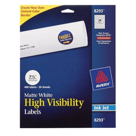 1 Inch Diameter Labels Inkjet Printers Buy Avery Matte White High Visibility Labels For Inkjet