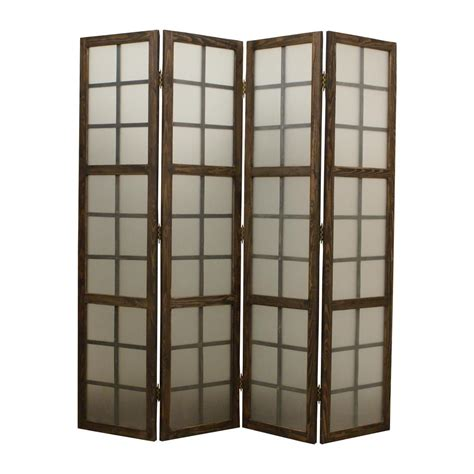 Eglomise 6 Ft Brown 4panel Room Dividersg189 The