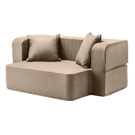 Flip Sofas latte wool feel poppy easy fold out flip sofa bed foam