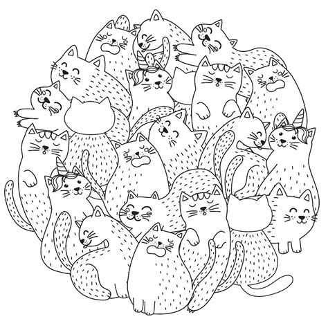 cat coloring pages purr fect printable coloring pages  cats  cat lovers   ages