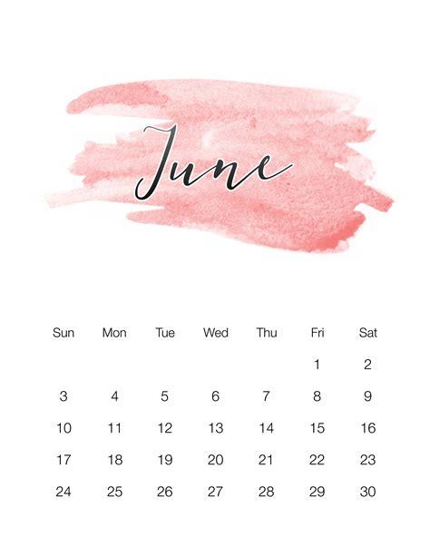 printable watercolor wash calendar cottage market