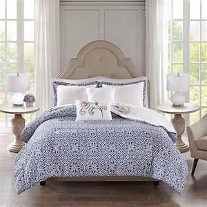Elizabeth, Indigo, By, Fiveten, 510, Designs, Bedding