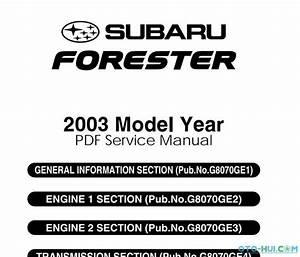 Saburu Forester 2003 Service Manual