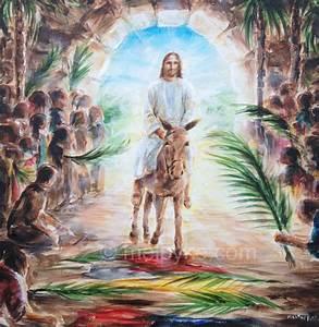 The Triumphal Entry into Jerusalem custom original oil