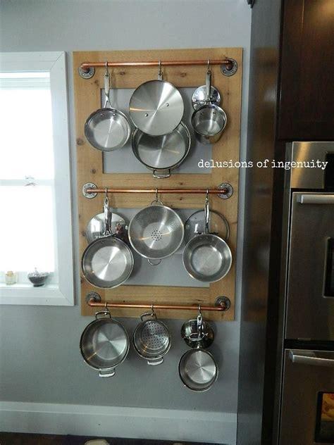 Kitchen Wall Rack Pots Pans by Pot Farm Or Pot Rack Kitchen Storage Hometalk