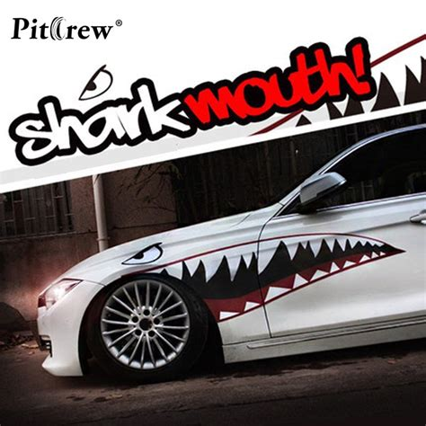 buy animals car stickers cool shark mouth