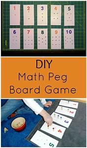 DIY Math Peg Board Game - Child Led Life