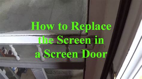diy how to replace the screen in a screen door