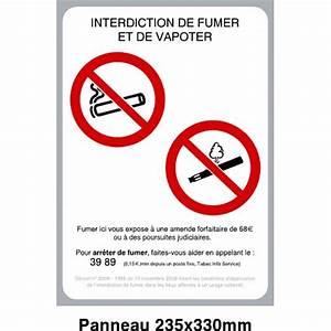 Panneau Interdiction De Fumer : panneau interdit de fumer et de vapoter protecnord ~ Melissatoandfro.com Idées de Décoration