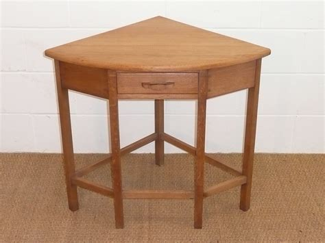 Cotswold Style Oak Corner  Side  Hall Table  Antiques Atlas