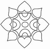 Rangoli Coloring Patterns Designs Diwali Simple Pages Printable Colouring Print Drawings Templates Drawing Pdf Kolam Craft Studyvillage Children Activities India sketch template