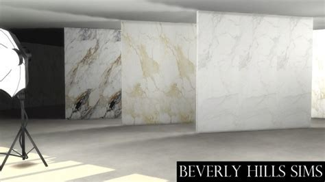 CALCUTTA MARBLE WALL SET at Beverly Hills Sims » Sims 4