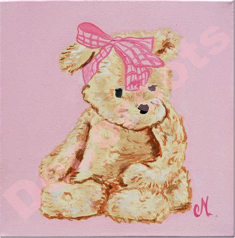 tableau chambre enfants tableau bébé ours décoration chambre enfant bébé